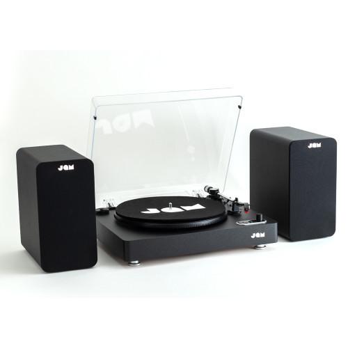 JAM Bookshelf Speaker Stream Turntable Bundle - Black