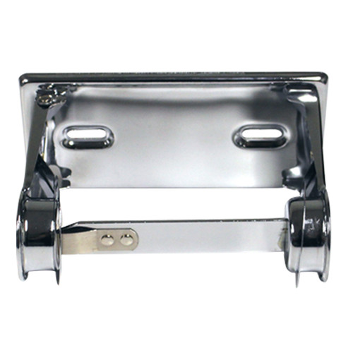 RD0381-12 Bright Chrome - Single Roll Metal Toilet Paper Dispenser