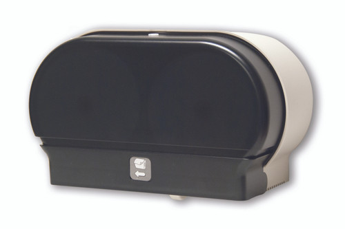 RD0321-01 Dark Translucent - Double Mini-Twin Toilet Paper Dispenser