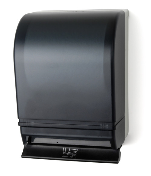 TD0215-01 Dark Translucent Push Bar Towel Dispenser