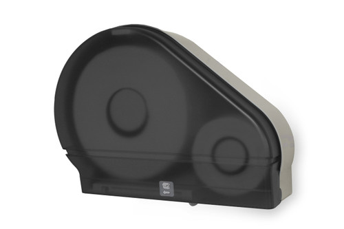 RD0024-01 Dark Translucent - Jumbo Toilet Paper Dispenser with Stub Roll