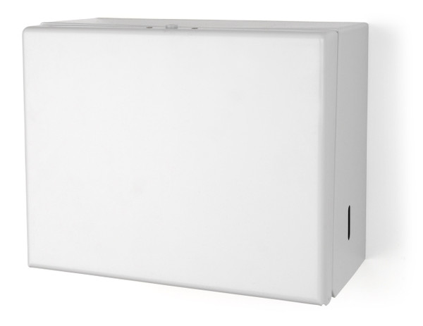 TD0091-17 White - Metal Folded Towel Dispenser