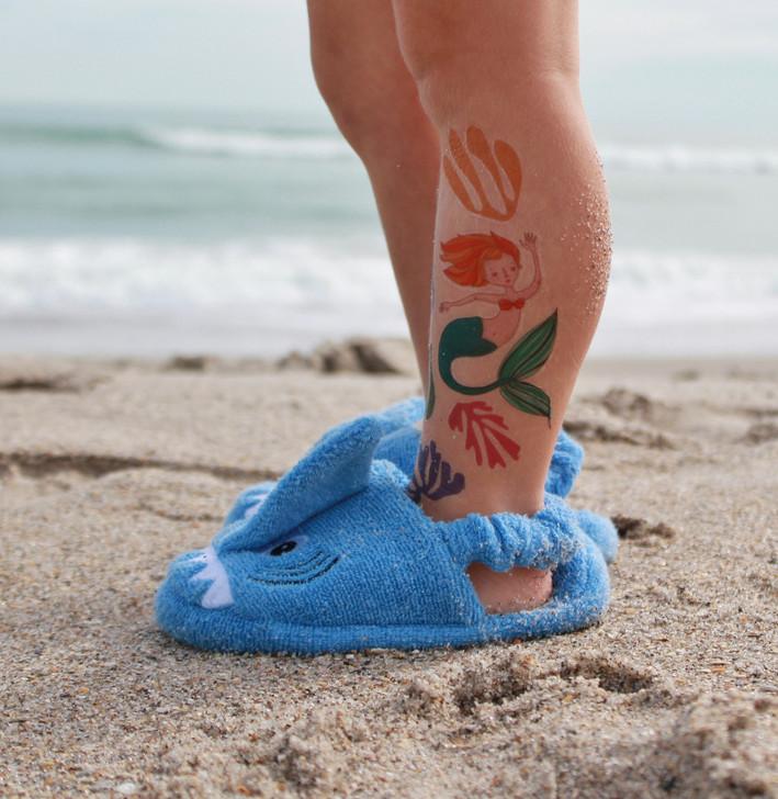 bedtime or beach slipper shark