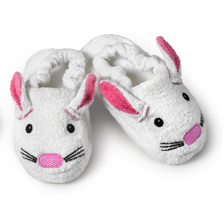 children's bunny slipper after bath or bedtime