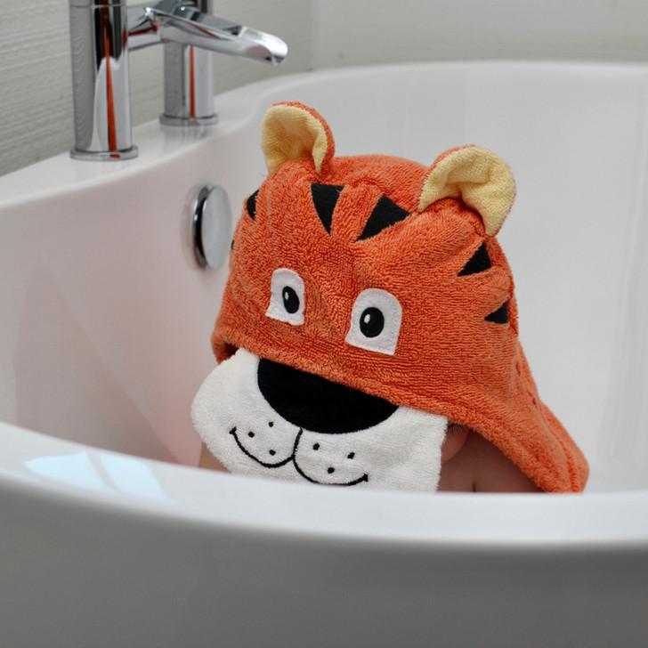 bathroom tiger towel