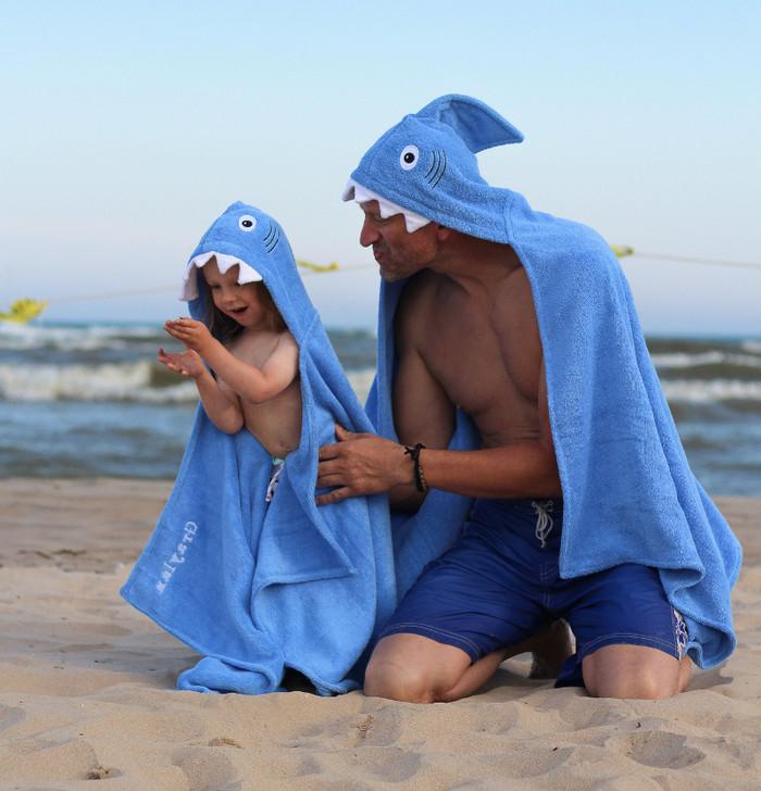 adult shark towel