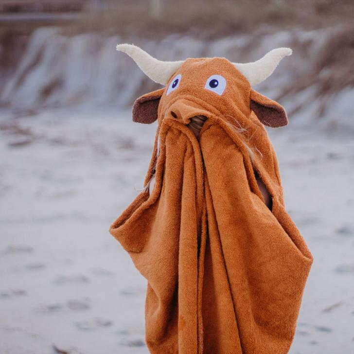Longhorn hooded towel for kids