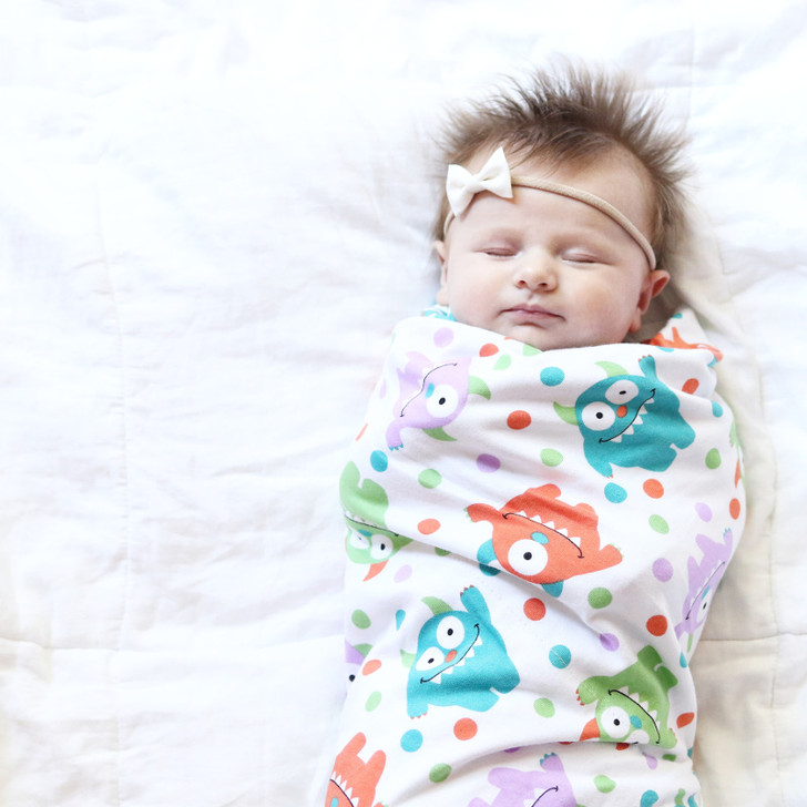 Monster swaddle blanket for infants