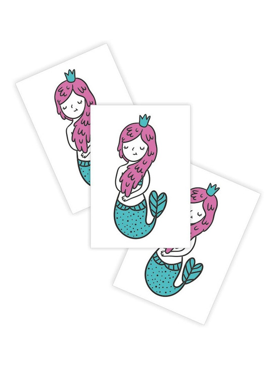 Little mermaid temporary tattoo for toddlers and children