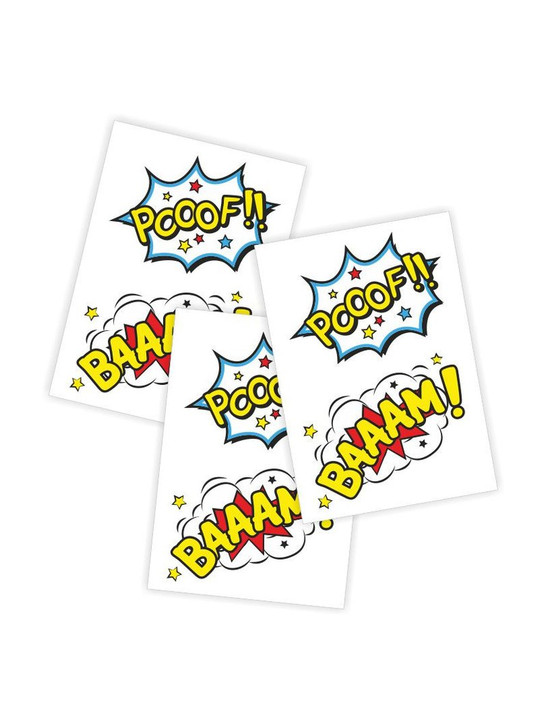 Superhero Temporary tattoos for kids and toddlers