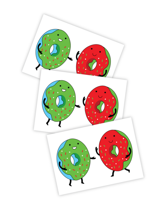 Christmas Donuts temporary tattoos kids and toddlers