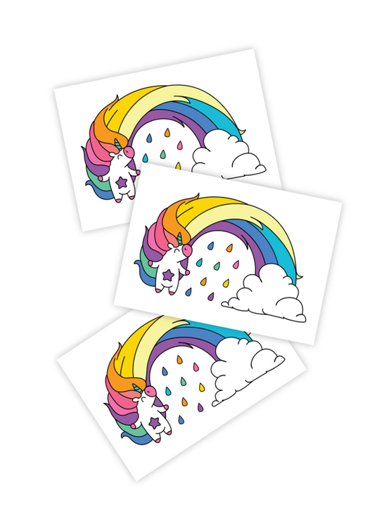 Rainbows and Unicorns Temporary tattoos for kids and toddlers
