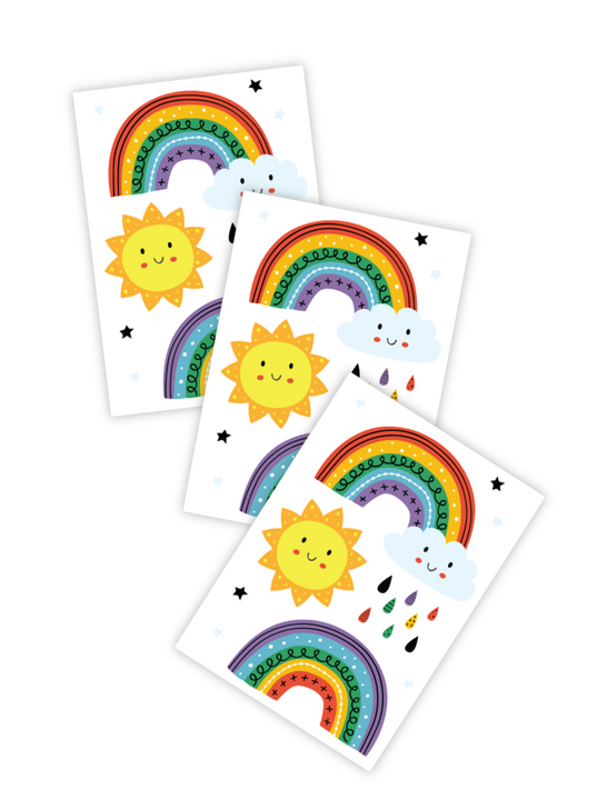 Good day rainbow temporary tattoo kids toddlers