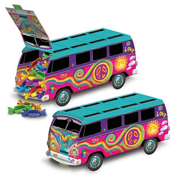 """3-D Hippie Bus Centrepiece 9 3/4"""""""