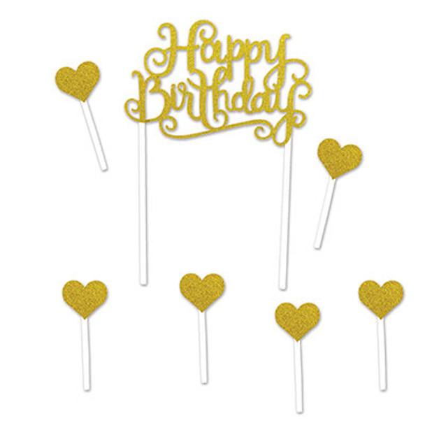 Happy Birthday Cake Topper 5 1 2