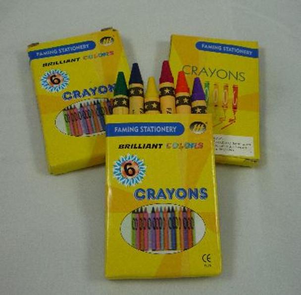 Crayons Pkt 6