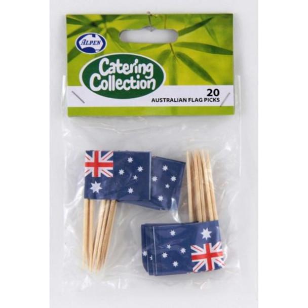 Australian Flag Toothpick Pkt 20