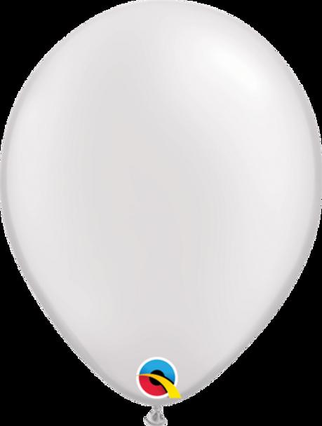 """Balloon Metallic/Pearl 5"""" Pkt 25 - White"""