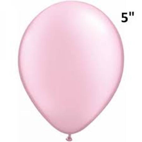 """Balloon Metallic/Pearl 5"""" Pkt 25 - Pink"""