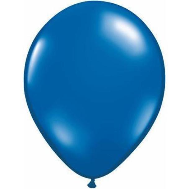 "Balloon Jewel 5"" Pkt 25 -  Sapphire Blue"