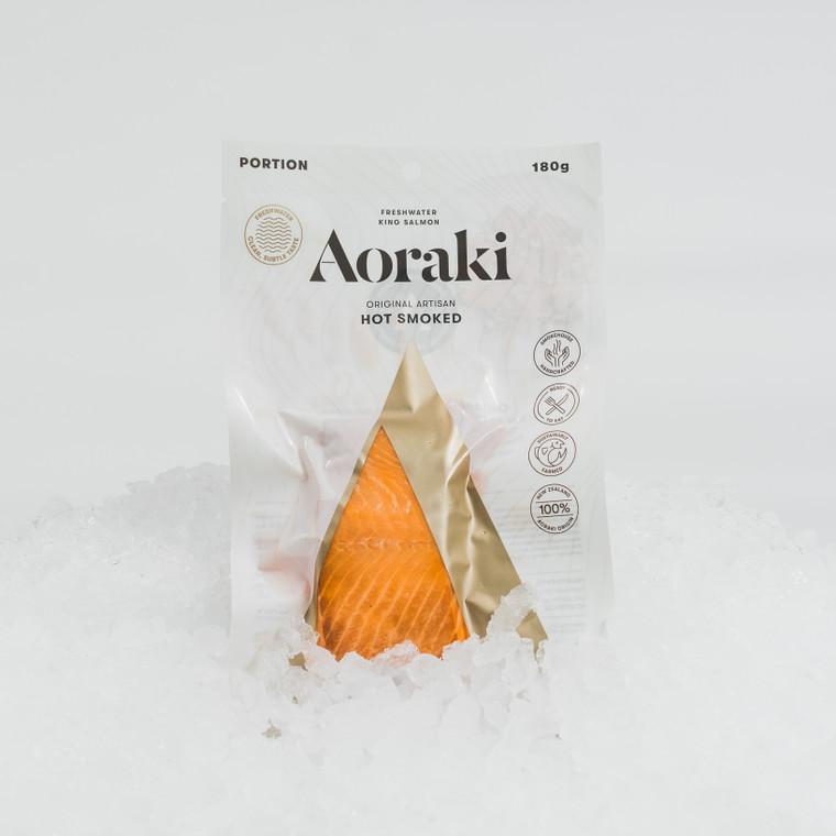 New packaging for Aoraki hot-smoked freshwater king salmon