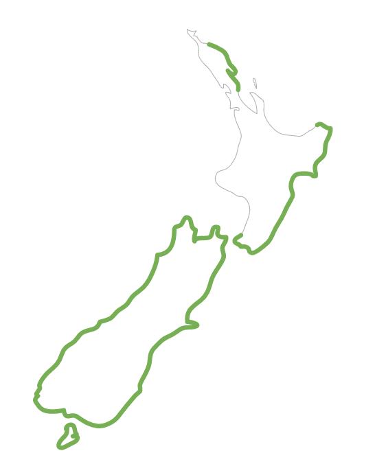 Catch area for New Zealand groper