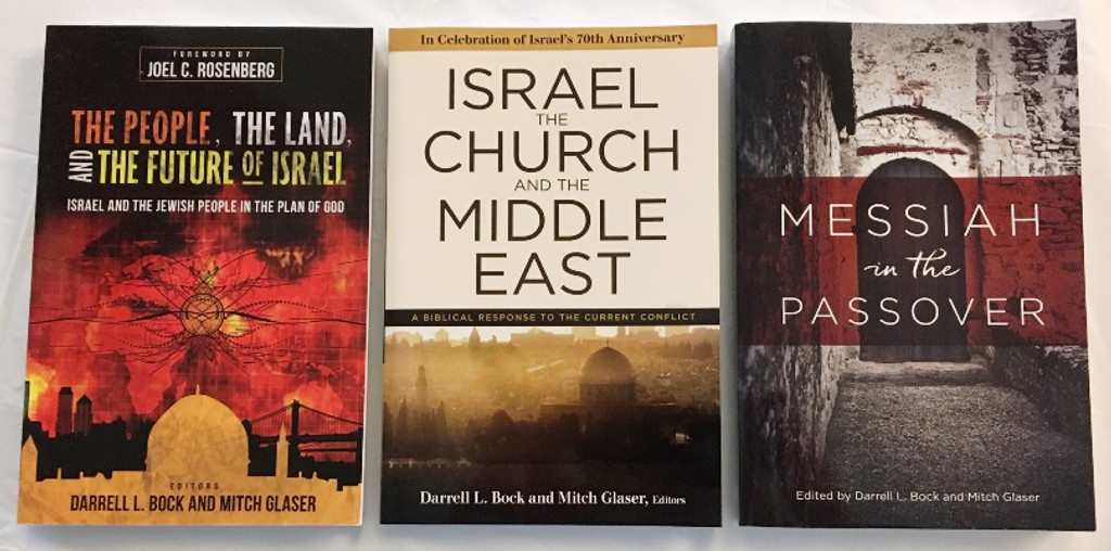 3 Book Special: 3159 The People the Land and the Future of Israel + 3175 Messiah in the Passover + 3179 Israel the Church and the Middle East