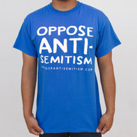 """Oppose Antisemitism"" Blue T-Shirt"
