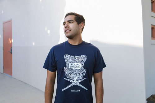 """I Found Shalom"" Blue T-Shirt"