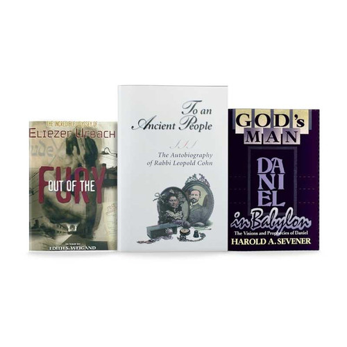 Stories of Faith - 3 Book Special Package: #3037 To an Ancient People: Leopold Cohen, Out of the Fury: Eliazer Urbach, #3028 Daniel, God's man in Babylon