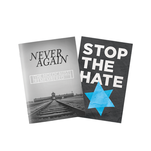 2 Book Set: Stop the Hate booklet + Never Again, the Holocaust Remembered