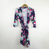 Navy Floral Robe + Navy GOWN Set