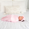 Pink W/ White and SOLID PINK Swaddle Set