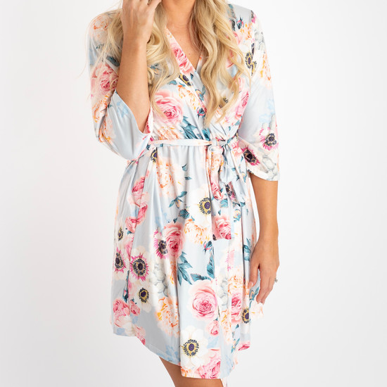 Dusty Pink Floral Women's Robe
