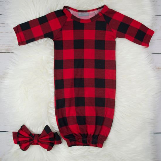 Red Gingham Robe & Sleep Sack
