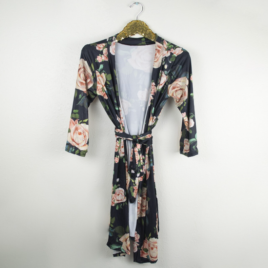 Black Floral Robe & Sleep Sack