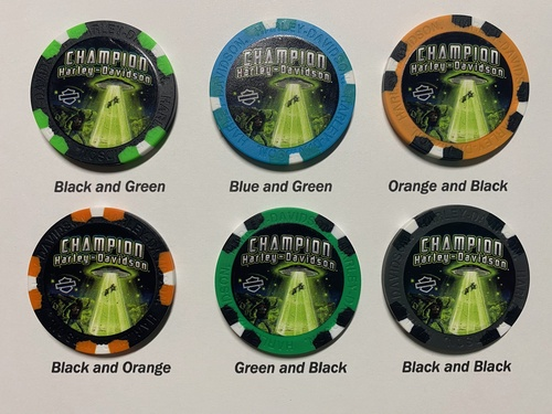 Champion Harley-Davidson Poker Chip - Abduction