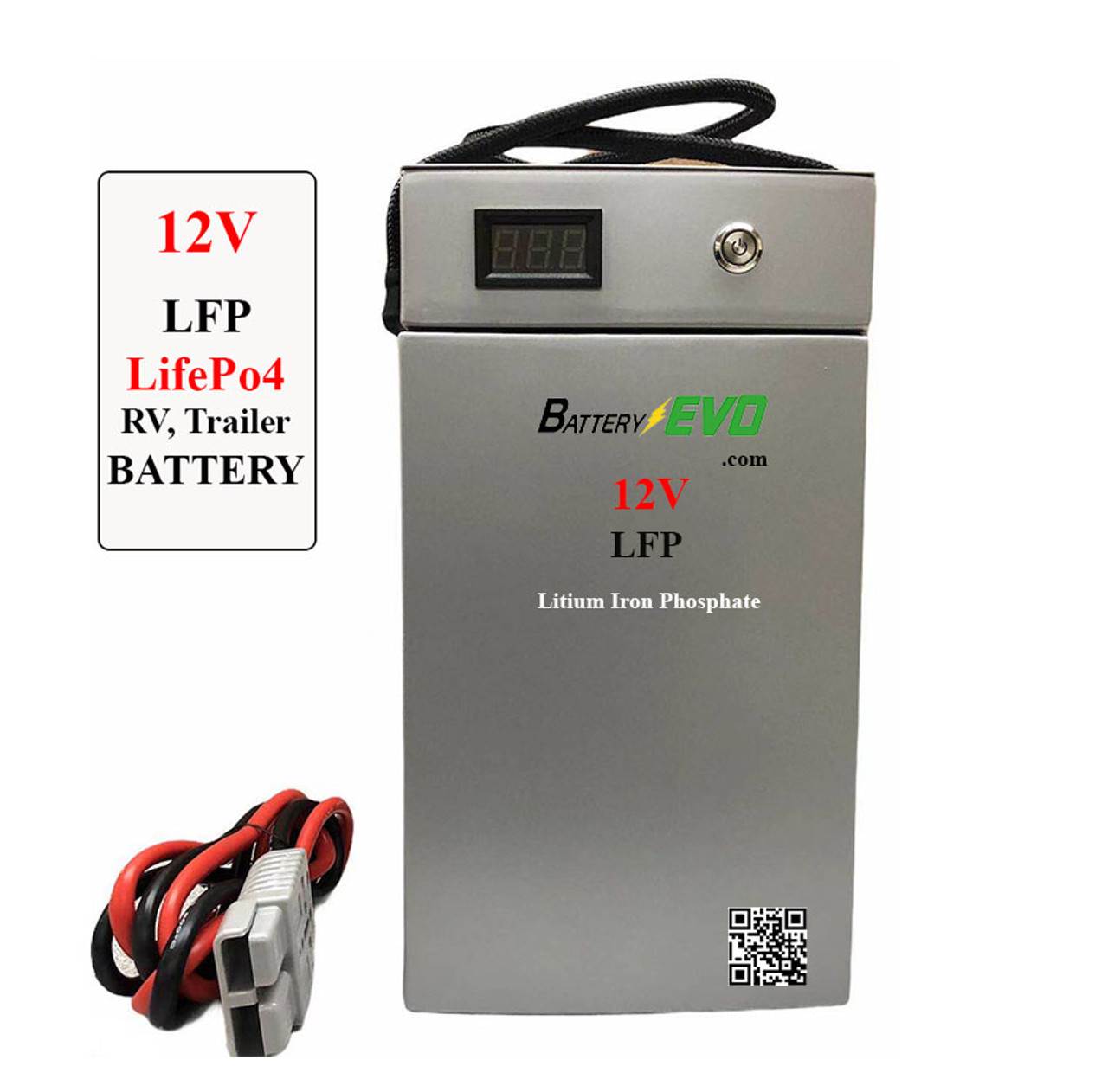 12V Battery Lithium 120Ah 1.5 kWh LiFePO4 LFP Solar Trailer Golf Cart Cabin Scooter Boat