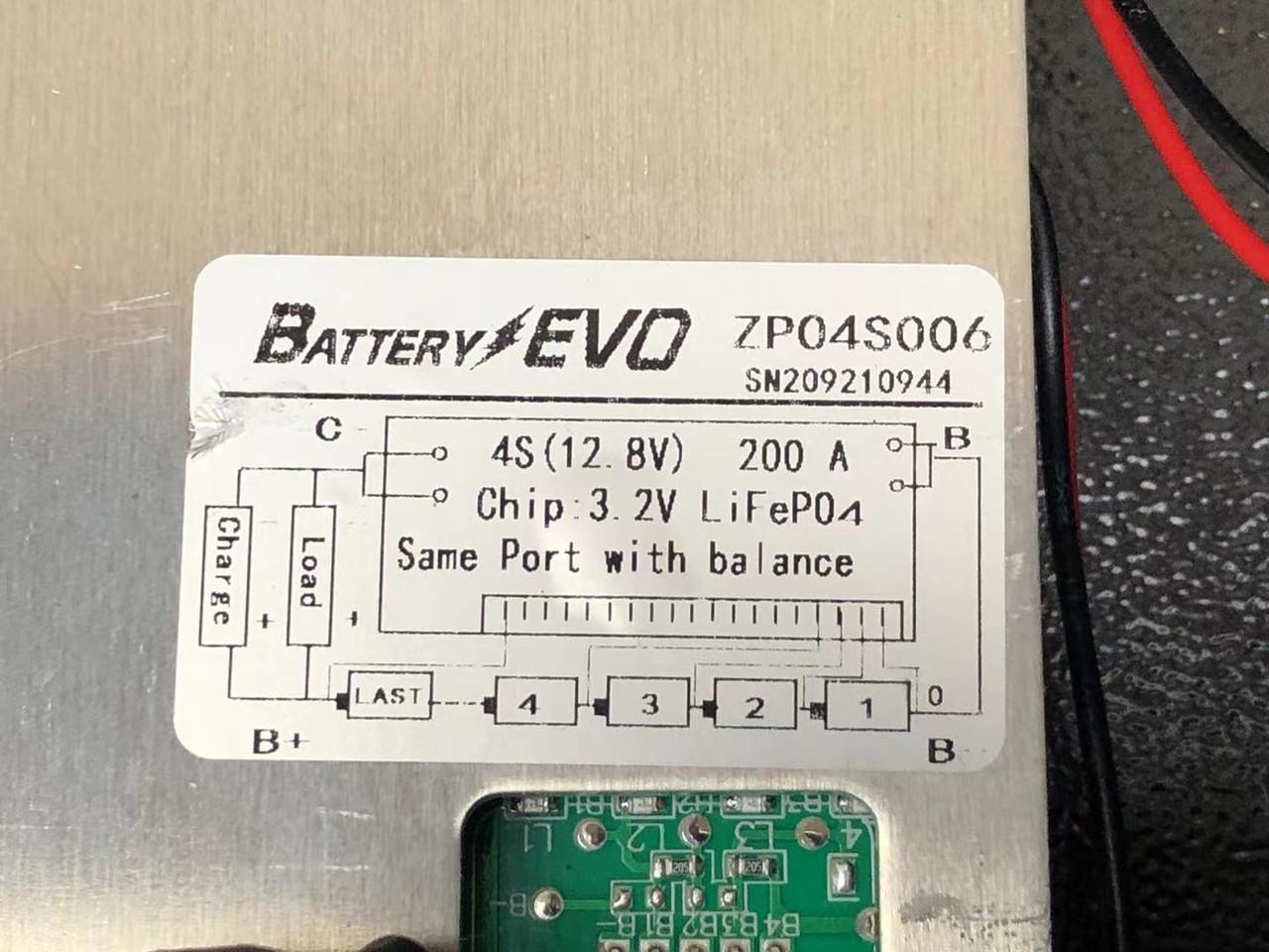 12V BMS kit 200A for 4S LiFePO4 LFP Lithium Battery 250A Breaker DC Meter