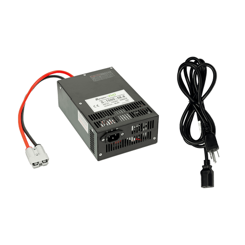 24V Adjustable DC Charger Power Supply for Lithium Ion Battery Golf Cart Overnight