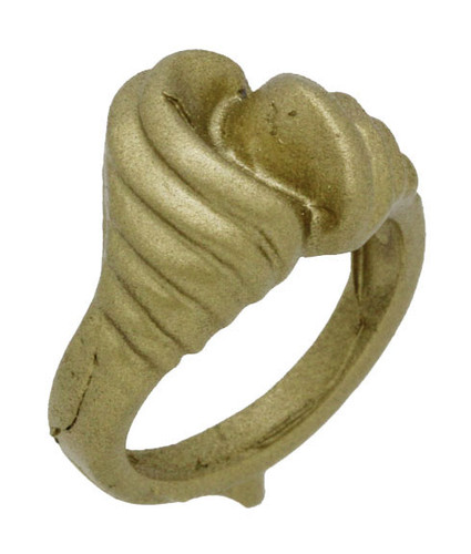 """1/2"""" Wavy Channel Style Ring"""