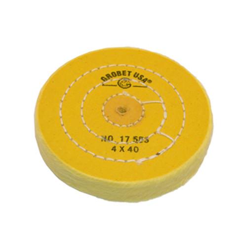 "Yellow Chemkote Buff 4"" x 40py Shellac"