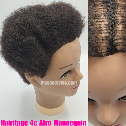 Practice natural hair styles with our beautiful 4c texture mannequin. Washes, curls, styles and colors easily. Avoid excessive heat damage.