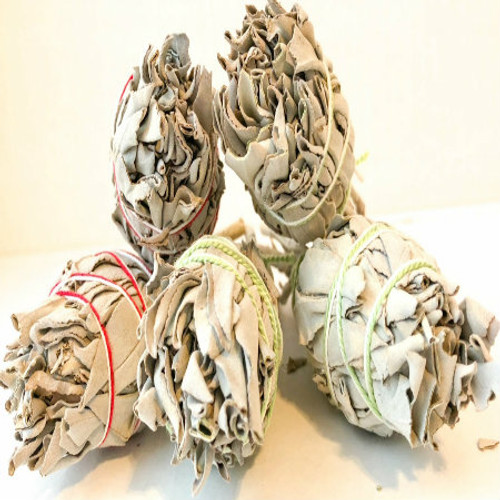 Contains 1 individual bundle of sage. Picture is for illustrative purposes only.