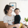 MAMA BIRD Vintage T-Shirt (Color on Light Gray Fleck) from The Printed Home (Photo Credit: @casadecharris)