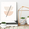 'Half Circles I' Minimalist Geometric Art Print from The Printed Home