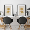 'Sun Palm II and III' in Ochre, Abstract Leaf Art Prints from The Printed Home
