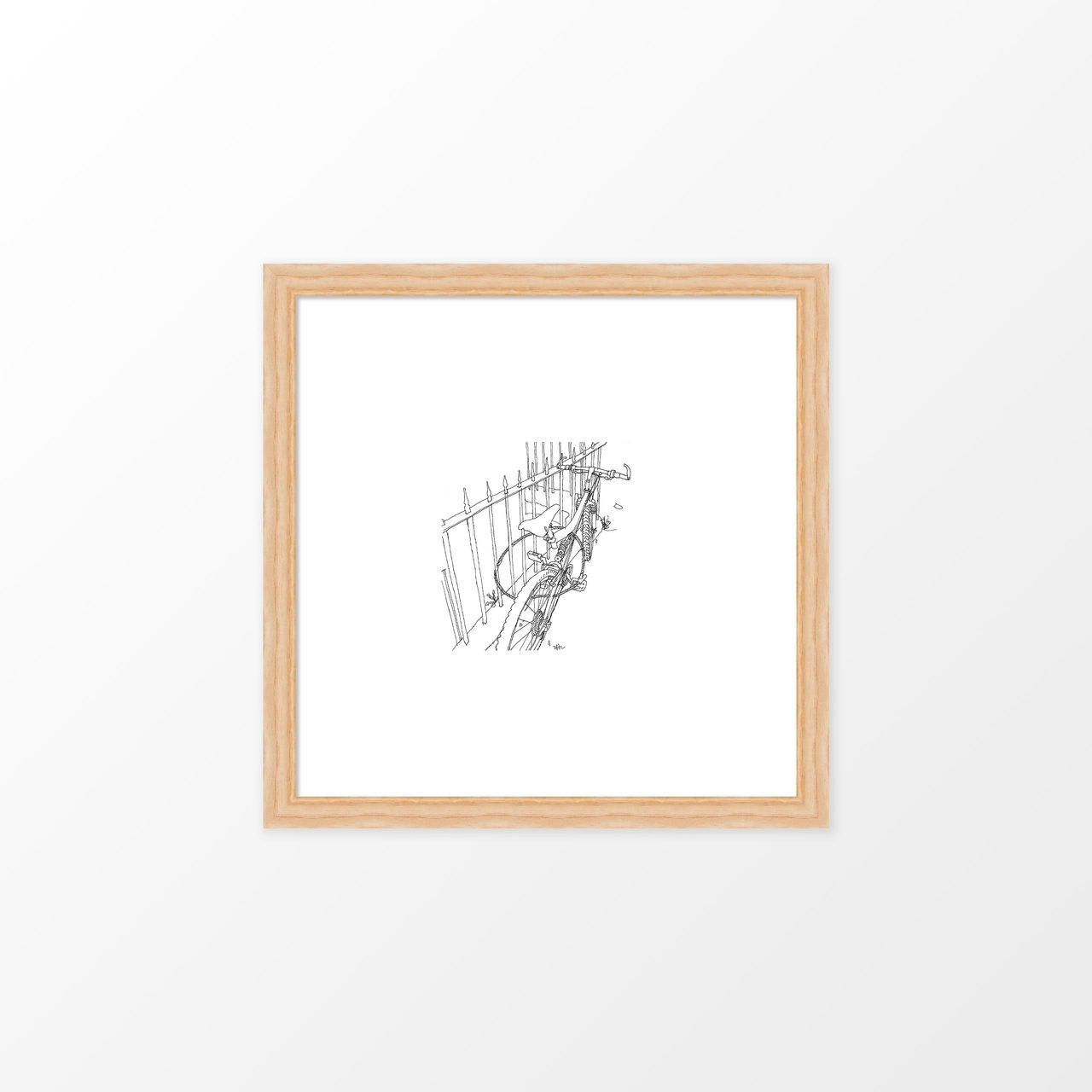 'By the Railings' Art Print (ink drawing by David Cobley) from The Printed Home