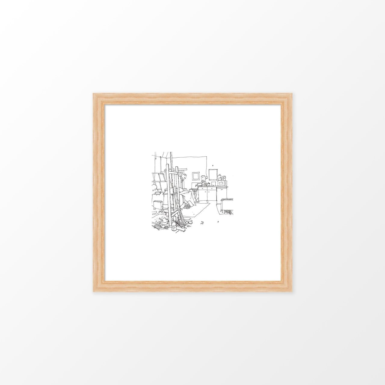 'Studio' Art Print (ink drawing by David Cobley) from The Printed Home