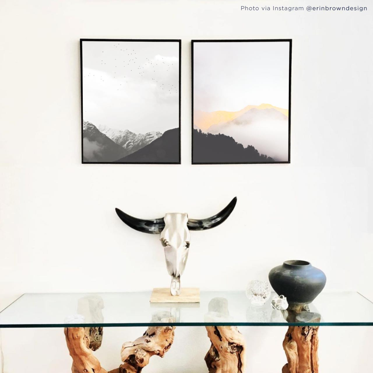 'Mountain Mist' and 'Fly with Me' Photography Posters from The Printed Home